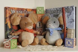 Plush mice group