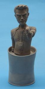 "Coming Tony Chu mini-bust from ""CHEW"" sculpted by Derek Hallett"