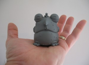Prototype miniature vinyl Chog sculpted by Jamie Macfarlane