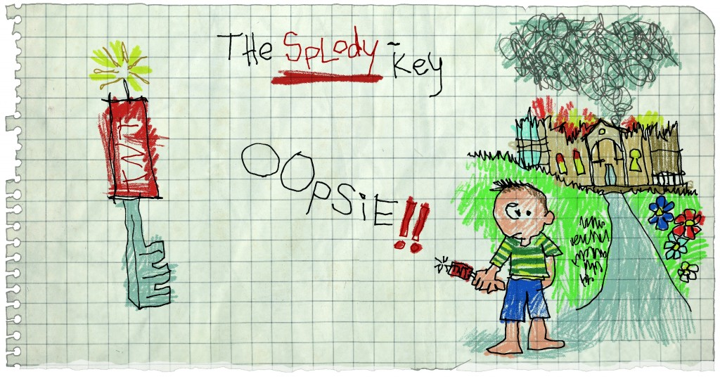 Locke & Key Splody Key panel by Gabriel Rodriguez