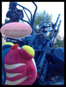"""Pew, pew, pew"" (via Toshi Satake)"